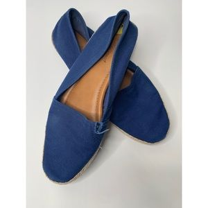 Lucky Brand Blue Espadrille Canvas Slip On Shoes